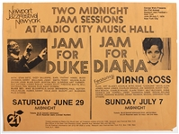 "Diana Ross Radio City Music Hall ""Jam for Duke"" and ""Jam for Diana"" Original Concert Poster"