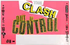 The Clash Original Concert Poster Blank