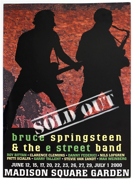 Bruce Springsteen & The E Street Band Original Madison Square Garden Concert Poster