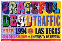 Grateful Dead and Traffic Original Concert Poster