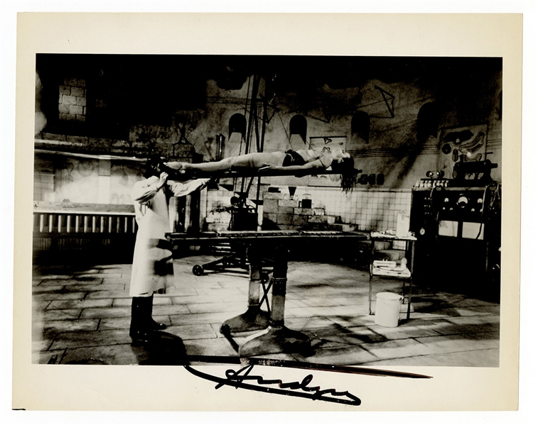 Andy Warhol Signed Photograph Beckett LOA