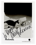 Madonna Signed & Inscribed Photograph