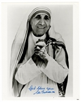 Mother Theresa Signed Photograph Beckett LOA