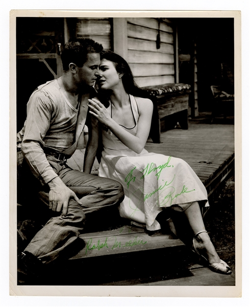 "Ralph Meeker and Janice Rule Signed ""Picnic"" Photograph Beckett Authentication"