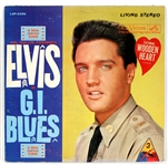 "Elvis Presley ""Elvis Presley G.I. Blues"" Rare Stereo LP With Wooden Sticker"