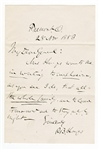 Rutherford B. Hayes Handwritten Signed Letter JSA LOA
