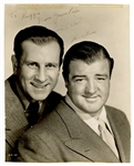 Bud Abbott & Lou Costello Signed and Inscribed Photograph JSA LOA