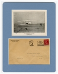 Orville Wright Signed Photographic Print with Mailing Envelope JSA LOA