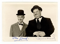 Stan Laurel and Oliver Hardy Signed Photograph JSA LOA