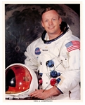 Neil Armstrong Signed NASA Photographic Print JSA LOA