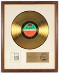 """Led Zeppelin"" Original RIAA White Matte Gold LP Record Album Award Presented to John Bonham"