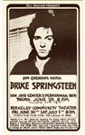 Bruce Springsteen Original Randy Tuten Signed San Jose/Berkeley Concert Poster