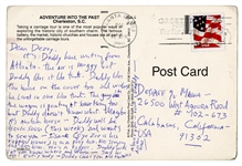 "Bob Dylan Handwritten Postcard to Daughter Desiree Signed ""Daddy"""