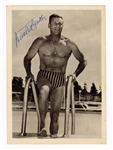 Buster Crabbe Signed Photographic Card (5 X 7) Beckett COA