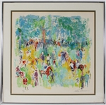 LeRoy Neiman Signed Paddock Horse Racing Large Serigraph (Limited Edition)  JSA LOA