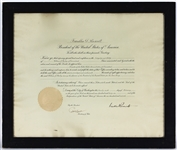 President Franklin D. Roosevelt Signed Document JSA LOA