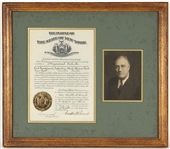 Franklin D. Roosevelt Signed Document JSA LOA