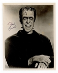 "Fred Gwynne ""The Munsters"" Herman Munster Signed Photograph JSA LOA"