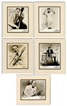 Louis Armstrong All-Stars Bandmembers Signed Original Publicity Photographs (5) JSA Authentication