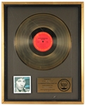 """The River"" Original RIAA Gold LP Record Album Award Presented to Bruce Springsteen"