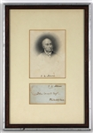 John Quincy Adams Signed Free Frank Envelope JSA LOA