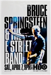 Bruce Springsteen & The E Street Band HBO Concert Promotion Poster