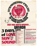 Jethro Tull and Eric Burn Signed Strawberry Fields International Carnival of Sound/1969 Freedom Concert Poster with Led Zeppelin