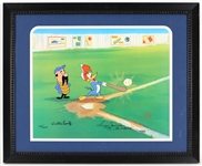 "Woody Woodpecker Animation Cell Signed by Walter Lantz & Reggie Jackson ""Mr. October""  125/200"
