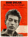 "Bob Dylan ""Subterranean Homesick Blues"" Lyrics Inscribed and Signed Song Book Page"
