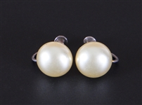 "Marilyn Monroe ""Last Sitting"" ""White Veil Session"" Worn Faux Pearl Earrings"