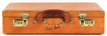 President George H. W. Bush Owned, Signed & Extensively Used C.I.A & Presidential Briefcase
