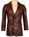 Keith Moon Owned and Worn Brown Leather Jacket