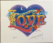 "Beatles ""All You Need Is Love"" Original Limited Edition Artwork for ""The Beatles Illustrated Lyrics"" Book (28/250) Signed by Alan Aldridge"