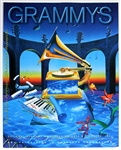 Bob Dylan, Elton John, Radiohead and More 40th Annual Grammy Awards Original Poster