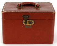 Judy Garland Owned & Used Brown Leather Make-Up Case