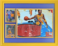 Kobe Bryant Game Used and Signed Basketball Framed Display PSA