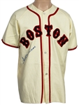 Ted Williams Signed Boston Red Sox Cooperstown Replica Rookie Jersey