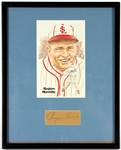 Rogers Hornsby Signed Framed Display