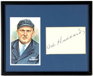 Cal Hubbard Signed Framed Display