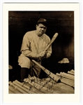 Babe Ruth Signed and Inscribed Portrait Photograph JSA LOA