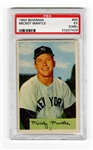 1954 Bowman Mickey Mantle Signed PSA #65 5(MK)