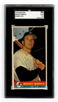 1959 Bazooka Mickey Mantle Hand Cut Baseball Card SGC 20 Fair 1.5