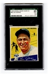 1934 World Wide Gum Co. #92 Lou Gehrig SGC 20 Fair 1.5