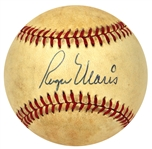 Roger Maris Beautiful Single Signed OAL Baseball JSA LOA