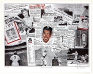 Joe DiMaggio Signed Lithograph