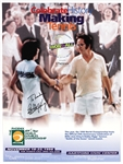 Billie Jean King Signed Battle of the Sexes Tennis Poster