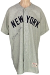 Mickey Mantle Game Worn and Signed New York Yankees 1958 Jersey