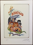 """The Beatles Illustrated Lyrics"" Original Limited Edition Book Cover Artwork Signed by Alan Aldridge"
