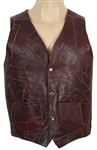 Jim Morrison Owned & Worn Brown Leather Vest with Sheepskin Interior