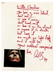 David Bowie Handwritten and Signed Poem (JSA LOA) With Large Lock of Hair